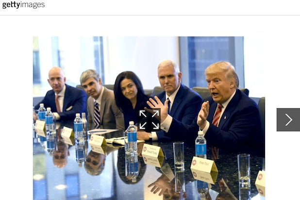 Trump Tech Summit / Bottle water
