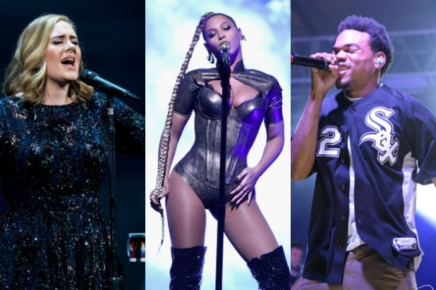 adele beyonce chance the rapper grammys nominations