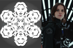 jyn erso rogue one star wars snowflakes