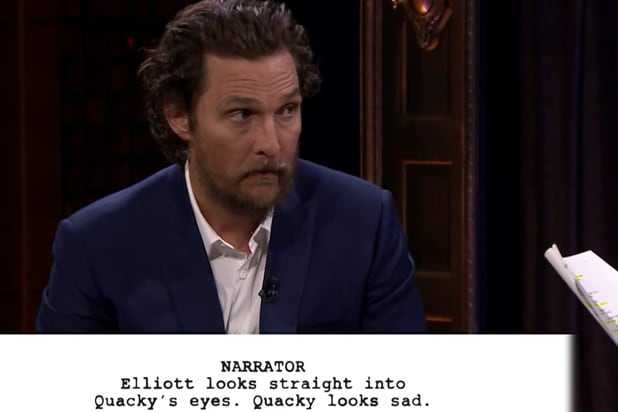 Matthew McConaughey, Jimmy Fallon Act Out Kid's 'Gold' Scripts (Video)