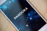 Pandora's app on an iPhone