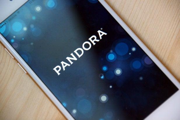 Pandora's app on an iPhone