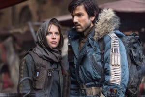 rogue one a star wars story jyn erso felicity jones diego luna