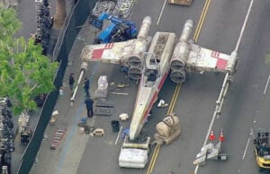 star wars rogue one x-wing on hollywood blvd