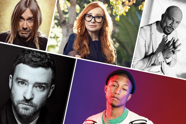 oscar songwriters iggy pop, common, pharrell, justin timberlake, tori amos