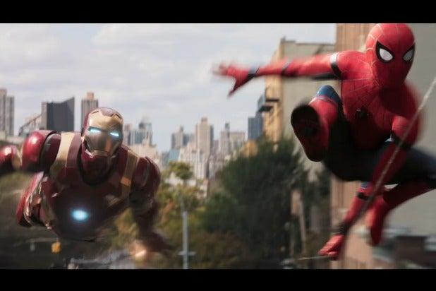 spider-man homecoming iron man teamup