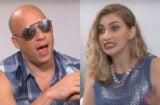 vin diesel flirt interviewer Carol Moreira