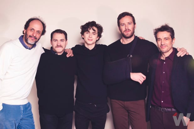 Luca Guadagnino, Michael Stuhlbarg, Timothée Chalamet, Armie Hammer, Walter Fasano, Call Me By Your Name