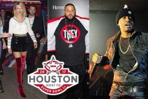 Taylor Swift, Dj Khaled, Nas Super Bowl Parties Houston 2017