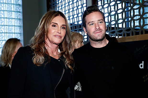 Caitlyn Jenner and actor Armie Hammer GOLD MEETS GOLDEN