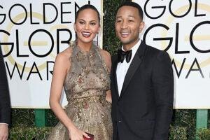 Chrissy Teigen and John Legend at Golden Globes
