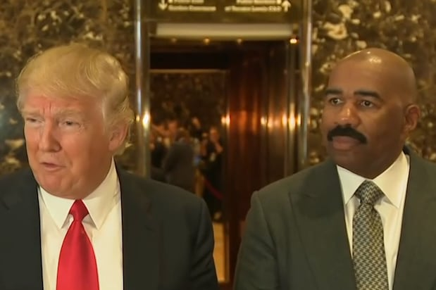 Image result for steve harvey donald trump