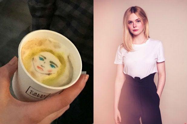 Elle Fanning TheWrap Latte