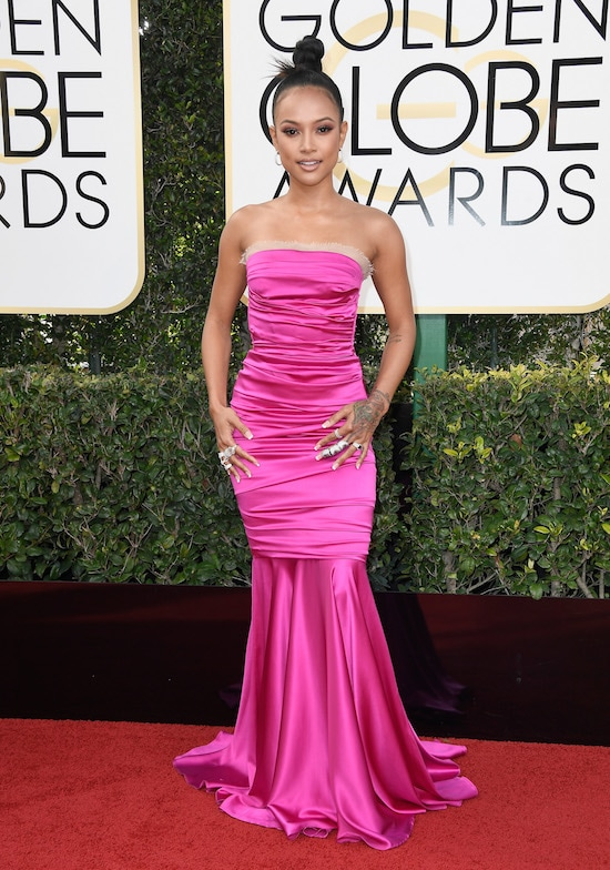 Karrueche Tran Golden Globe Awards - Arrivals