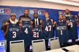 Allen Iverson, Kenyon Martin; Roger Mason Jr., Jeff Kwatinetz, Ice Cube, and Rashard Lewis BIG3
