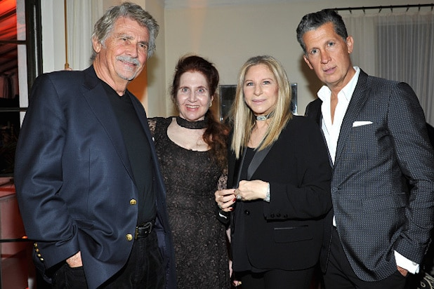 LOS ANGELES, CA - JANUARY 05: (L-R) Actor James Brolin, W Magazine's Lynn Hirschberg, Barbra Streisand and Editor of W magazine Stefano Tonchi attend W Magazine Celebrates the Best Performances Portfolio and the Golden Globes with Audi and Moet & Chandon at Chateau Marmont on January 5, 2017 in Los Angeles, California. (Photo by Donato Sardella/Getty Images for W Magazine)