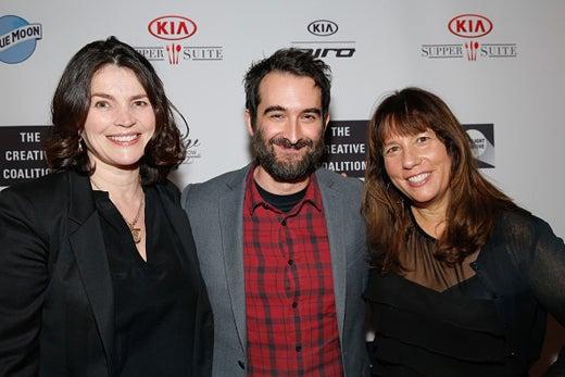 Julia Ormond, Jay Duplass, and Robin Bronk
