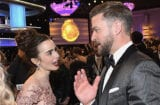Lilly Collins and Justin Timberlake Golden Globes