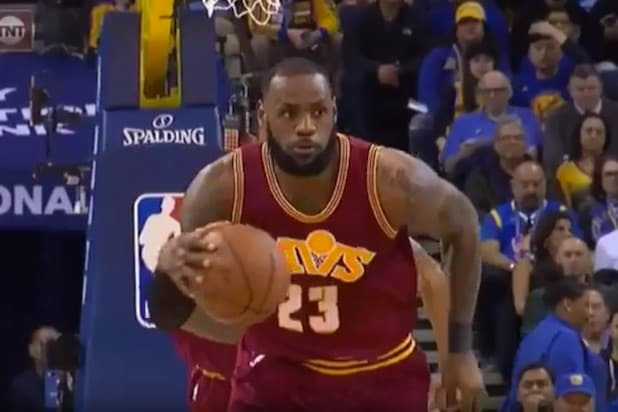 afcc353dc97a Watch LeBron James Mocked For Flopping to Sell a Foul (Video)