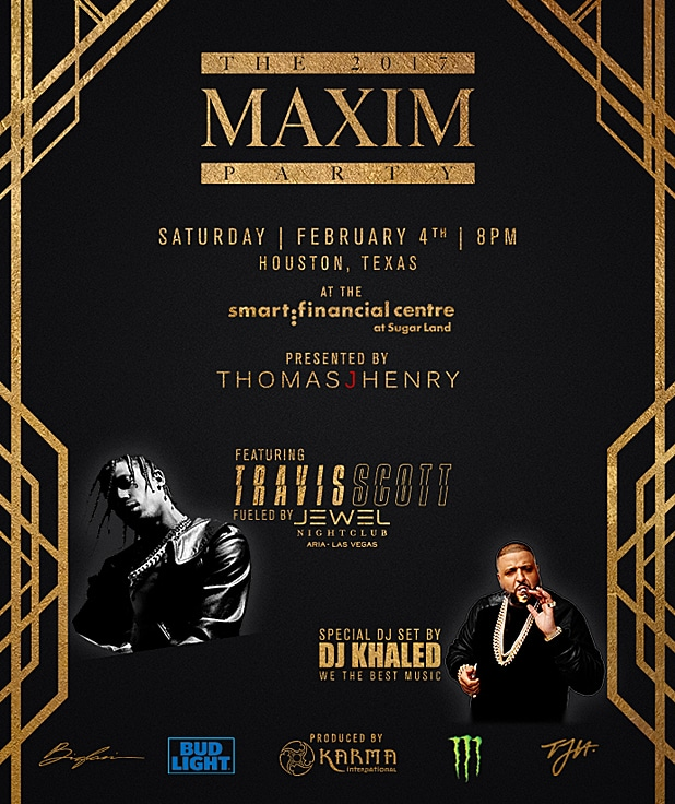Maxim Super Bowl Party Flyer