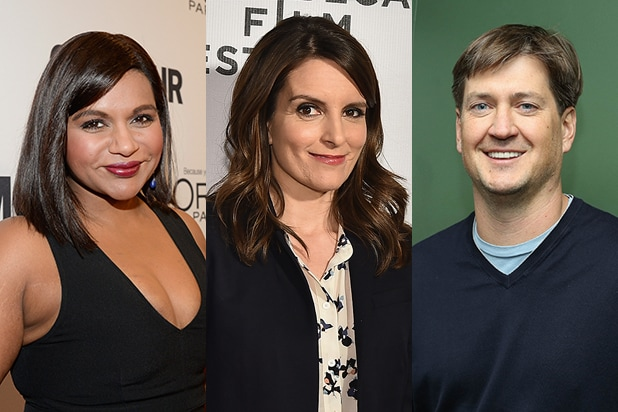 Mindy Kaling Tina Fey Bill Lawrence