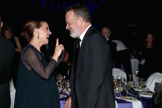 PALM SPRINGS, CA - JANUARY 02: Actors Natalie Portman and Tom Hanks attend the 28th Annual Palm Springs International Film Festival Film Awards Gala at the Palm Springs Convention Center on January 2, 2017 in Palm Springs, California. (Photo by Todd Williamson/Getty Images for Palm Springs International Film Festival)
