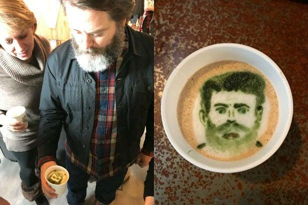 Nick Offerman Latte TheWrap