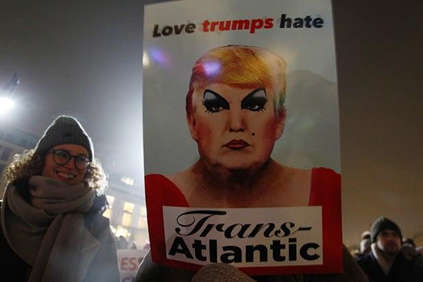 Protesters Deride Trump Inauguration