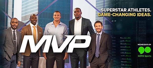Rob Gronkowski, Antonio Brown and Terrell Owens on MVP Poster Cropped