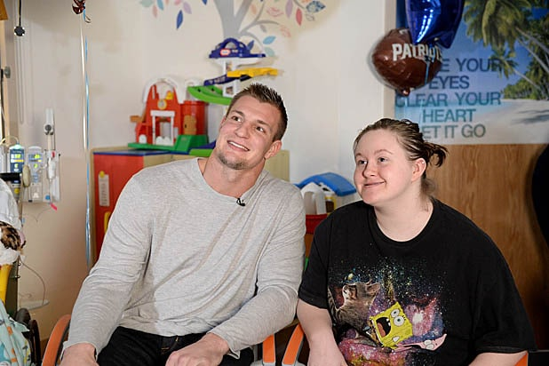 Rob Gronkowski Visits Boston Children's Hospital