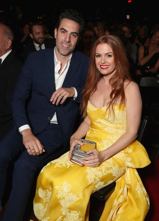 LOS ANGELES, CA - JANUARY 06: Actors Sacha Baron Cohen (L) and Isla Fisher attend The 6th AACTA International Awards on January 6, 2017 in Los Angeles, California. (Photo by Todd Williamson/Getty Images for AACTA )