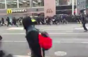 d.c. inauguration day protest pepper spray broken windows