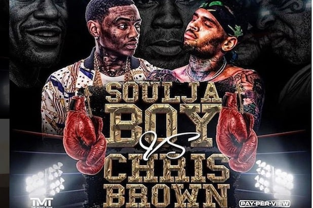 soulja boy chris brown flyer