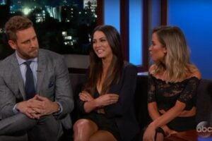 'Bachelor' Nick Viall Has Awkward Reunion With 'Bachelorette' Exes on Kimmel (Video)