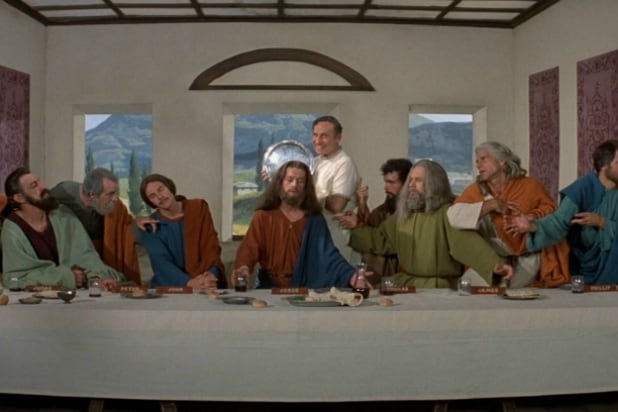 """John Hurt as Jesus in """"The History of The World Pt. 1"""""""