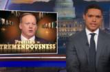 Trevor Noah Sean Spicer The Daily Show