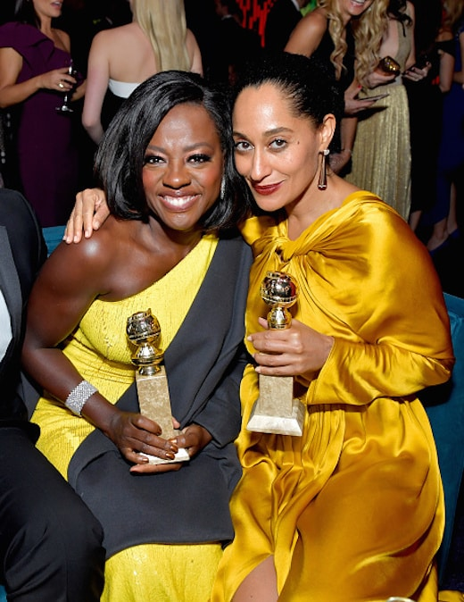 BEVERLY HILLS, CA - JANUARY 08: Actresses Viola Davis (L) and Tracee Ellis Ross attends The 2017 InStyle and Warner Bros. 73rd Annual Golden Globe Awards Post-Party at The Beverly Hilton Hotel on January 8, 2017 in Beverly Hills, California. (Photo by Stefanie Keenan/Getty Images for InStyle)