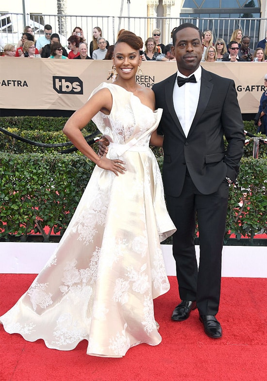 Actors Ryan Michelle Bathe (L) and Sterling K. Brown