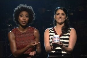 cecily strong sasheer Zamata snl saturday night live obama song sidney poitier