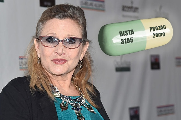 carrie fisher prozac