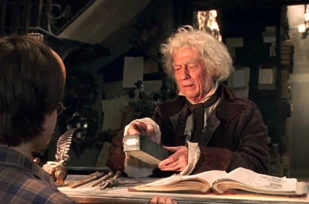 "John Hurt As Ollivander in ""Harry Potter"" Franchise"