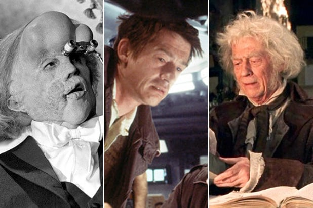john hurt elephant man, alien, harry potter