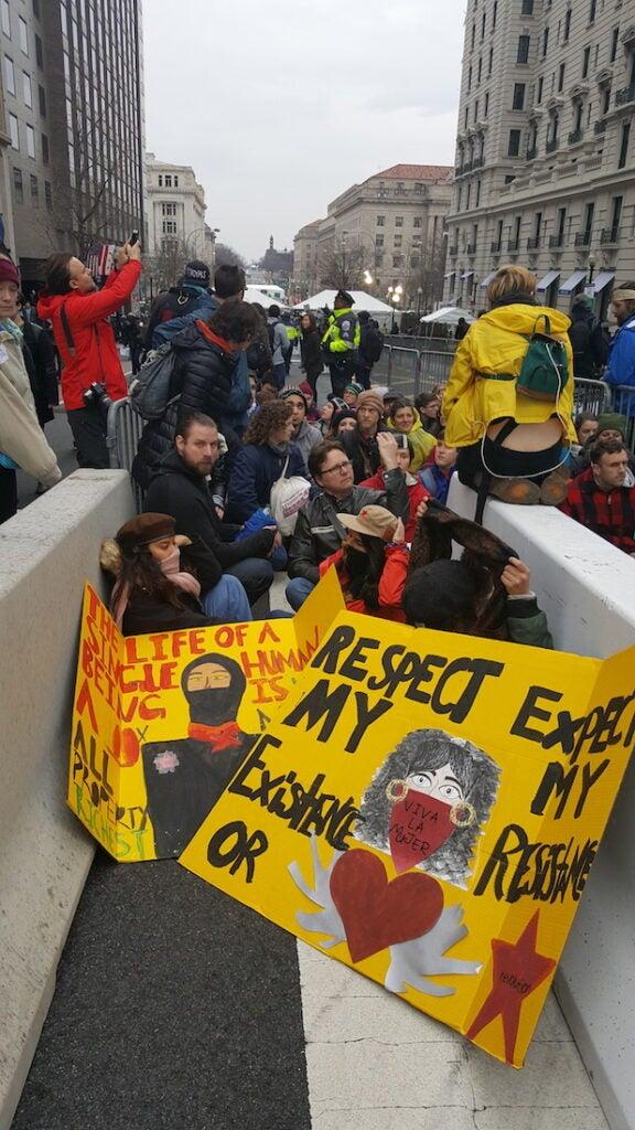 inauguration protest