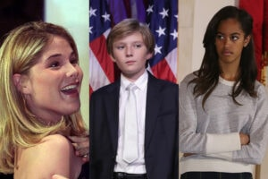 jenna bush barron trump malia obama