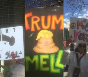 los angeles women's march signs