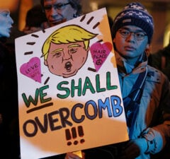 donald trump german protester overcomb