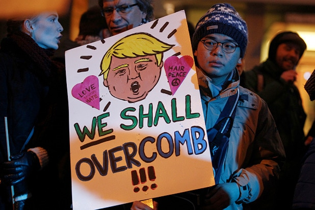 donald trump german protester overcomb