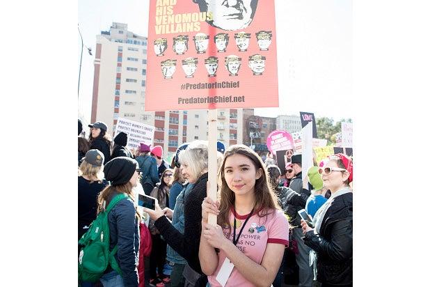 rowan blanchard women's march