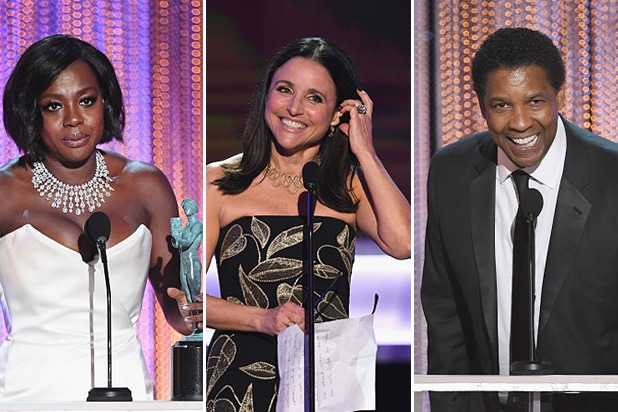 sag awards winners viola davis julia louis-dreyfus denzel washington
