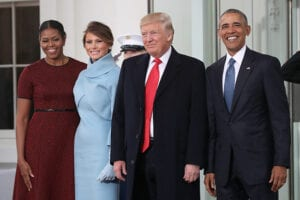 donald trump barack obama white house inauguration